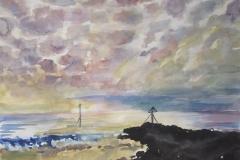 Mackerel Sky with Rocks