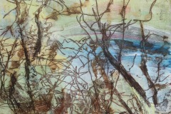 "2021 Flooded Trees 6 2021 10""x10"" monoprint £250"